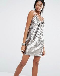 Buy Missguided Sequin Harness Dress at ASOS. With free delivery and return options (Ts&Cs apply), online shopping has never been so easy. Get the latest trends with ASOS now. Sequin Mini Dress, Embellished Dress, Dresses With Vans, Pretty Summer Dresses, What To Wear Today, Scoop Neck Dress, Women's Evening Dresses, Metallica, Dress Skirt