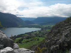 Le bout du lac d'Annecy depuis le taillefer carrière à Duingt
