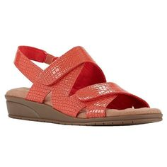 Orwell Sandal in Poppy Croc Patent Leather