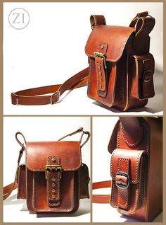 Handmade Genuine Leather Satchel Bag, Crossbody Shoulder Bags