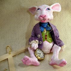 White Rabbit Marionette from Alice in Wonderland by Susan Taaffe
