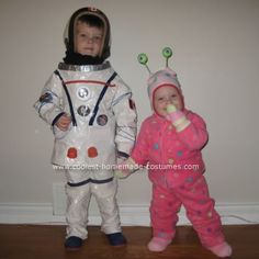 Corbin wants to be an Astronaut this year, and have Ollie be an alien.  This is a pretty cute costume!