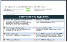 Use this checklist to help you prepare your Green card application (I485) after you get married with a K visa. Free download