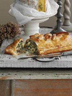 Stilton, chard and walnut wellington - This veggie wellington is packed with big, bold flavours and looks impressive but is still easy to make. This makes a great main for vegetarians at Christmas.