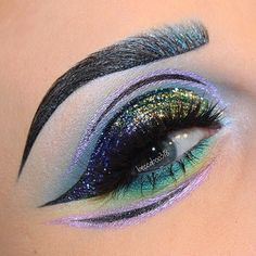 Forgot to ever post another of this look! I'll give ya some of the deets as I can't remember everything i used  @suvabeauty Lustre Lilac Hydra liner  @katvondbeauty Mi Vida Loca Remix Palette Trooper Ink & Tattoo liners Nietzsche Ink liner & the silver Lightning Liner (I think Amadeus is the name)  @wildlynatural Mint & Blue Ice pigments (use my code BECCA for $$ off)  @houseoflashes Iconic's with a piece of a mystery lash  #beccaboo318 by beccaboo318 You can follow me at @JayneKitsch