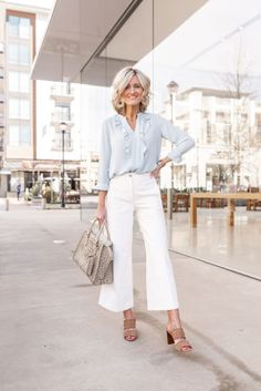 White Pants for Work – Work Wear Wednesday