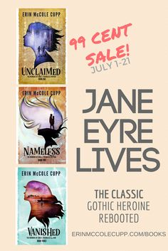 Reviewed by A.R.K. Watson Subscribe to Catholic Reads to get this book for $1 or less! Unclaimed, Nameless and Vanished are three novellas that retell the classic novel Jane Eyre by Charlotte Bront…