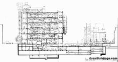 Great Buildings Drawing - Centre Pompidou