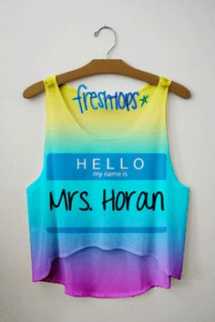"One Direction shirt ""Hello my name is Mrs. [choose directioner] I would go with Zayn Malik @Ashleigh Slosman"