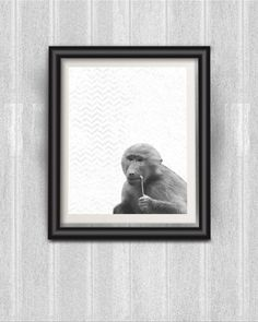 Baboon Wall Art - for sale now on Etsy, digital wall art for home decor. Fast, affordable art for your home.