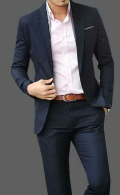 Navy blue suit - Good article too!