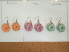 Paper quilled dangler earrings