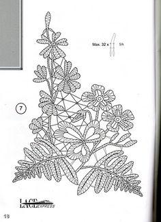 renda de bilros / bobbin lace flores / flowers