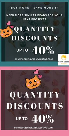 Need more similar beads for your next project? Enjoy quantity discounts - save up to 40%!  | SAVE it!| www.CzechBeadsExclusive.com #czechbeadsexcluisve #czechbeads