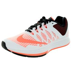 050de90e3ab0f Nike Women s Air Zoom Elite 7  Brightt Mango Black Running Shoe Girls  Sneakers