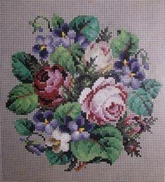 Berlin WoolWork Roses & Violets Pattern ~ Knechtel Berlin