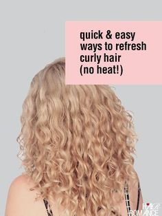 Today's tutorial is full of tips on how to refresh curly hair to keep your curls looking good on the second, third or fourth day. You shouldn't be washing curly hair every day and you can see my curly hair routine here. I'm always asked about how to keep curls looking good a...