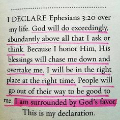 A selfish declaration of blessings upon oneself. Note the most important thing is the only thing not underlined. That's because it's all about receiving blessings and favor, not about obedience to and honoring God.