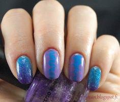 Kynsin: Sinistä ja violettia Born Pretty, Nail Art, Nails, Beauty, Finger Nails, Ongles, Nail Arts, Beauty Illustration, Nail Art Designs
