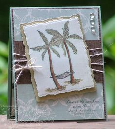 I love the colors and the layers! Beach Life by peanutbee - Cards and Paper Crafts at Splitcoaststampers