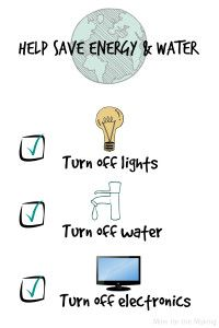 Energy & Water conservation checklist for kids! Free printable! #LEDSavings #shop #cbias #ad