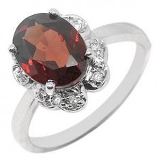 2 Carat Garnet Engagement Ring for Women with antique design