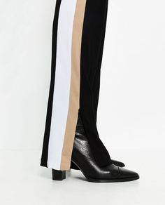 Image 6 of TROUSERS WITH SIDE BAND from Zara