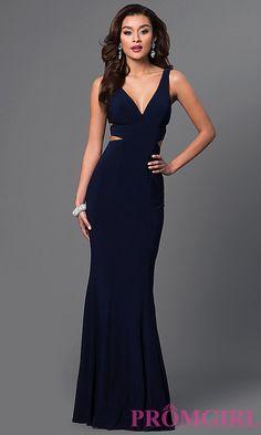 a5d6651db11 Long Faviana V-Neck Evening Dress