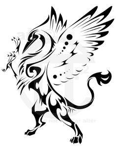 Gryphon Rampant Tattoo by ~ThePioden