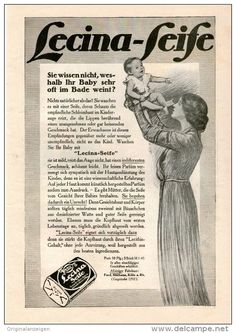 Original-Werbung/Inserat/ Anzeige 1912 - 1/1 SEITE : LECINA-SEIFE ca. 180 x 260  mm
