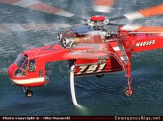 Sikorsky S-64 Helicopter United States Forestry Services Emergency Apparatus Fire Truck Photo
