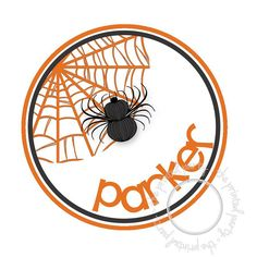 Halloween IRON ON TRANSFER Personalized  Spider by theprintedparty, $5.50