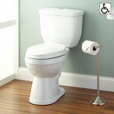 Pellington+Two-Piece+Dual+Flush+Elongated+Toilet++-+ADA+Compliant