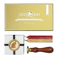 UNIQOOO Arts and Crafts the Wild Wolf Wax Seal Stamp Kit, Gift Idea *** You can find more details by visiting the image link.