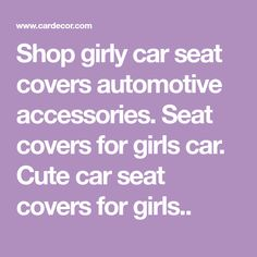 Seat covers for girls car. Cute car seat covers for girls. Girly Car Seat Covers, Seat Covers For Girls, Bucket Seat Covers, Car Covers, Automotive Seat Covers, 3d Christmas, Car Upholstery, Car Accessories For Girls, Cute Cars