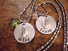 Best Friends Jewelry Personalized Jewelry by CharmAccents on Etsy,
