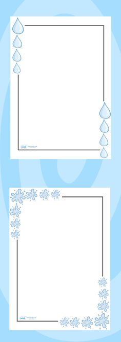Twinkl Resources >> Water Page Borders  >> Classroom printables for Pre-School, Kindergarten, Elementary School and beyond! Topics, Water, Printable Writing Paper, Borders