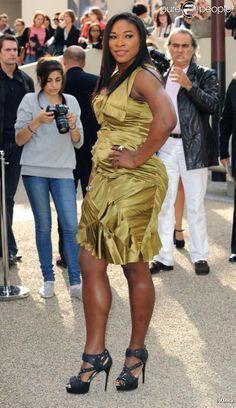 Serena Williams lors du défilé printemps/été 2011 Burberry à Londres le 21/09/10