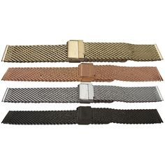 Watch Bracelet Open Mesh with Safety Clasp