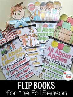 Flip books for the fall season- flip book includes activities for reading…
