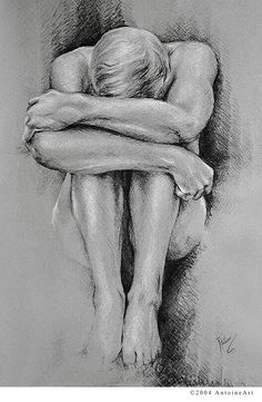Nudes - charcoal and chalk from antoine art