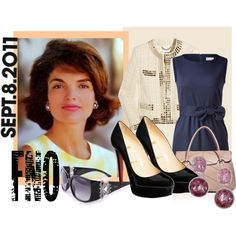 Jackie Kennedy Fashion Icon, created by purseble on Polyvore