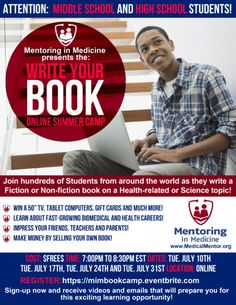 Write Your Book Online Summer Camp - Mentoring in Medicine