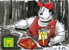 #art #drawing #painting #macdonalds #fat Son of FAT - by raphmau.com Spiderman, Joker, Fat, Superhero, Drawings, Painting, Fictional Characters, Spider Man, Painting Art