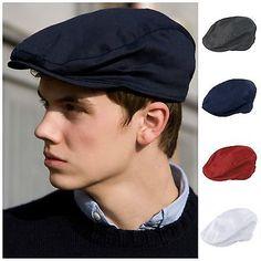 Peaky Blinders Vintage Cracked Leather Look Flat Cap Hat Gatsby Baker Boy Brown
