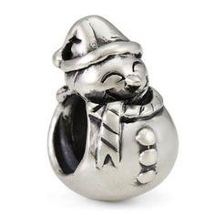 Silver Ohm Kid Snowman Bead, $30.00