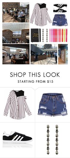 """""""Starfield Library ~ Seoul, Korea"""" by ubiquitous-merkaba ❤ liked on Polyvore featuring adidas and Gucci"""