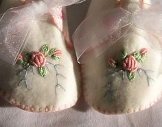 Baby Booties with Hand Embroidery