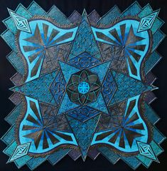 2018 AQS QuiltWeek – Lancaster Winners Recap – AQS Blog Wall Quilts: Movable Machine Quilted: Second Place – BLACK PEARL Aline Bugarin and Natasha Bugarin Campinas, Sao Paulo, Brazil