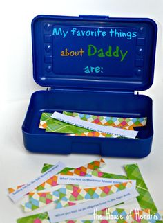 Incredibly thoughtful gift for a parent or grandparent this Father's Day! Have your child decorate a box and fill it with memories and their favorite things about the person. #fathersday